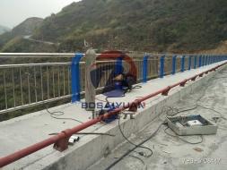 晴隆西泌河大桥桥梁护栏施工